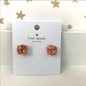 Kate Spade | Rose Gold Gumdrop Earrings NWT